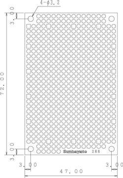 画像1: ユニバーサル基板 片面・紙フェノール1.6t・72×47mm