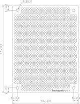 ユニバーサル基板 片面・紙フェノール1.6t・95×72mm