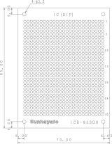 ユニバーサル基板 両面・ガラスエポキシ1.6t・95×72mm